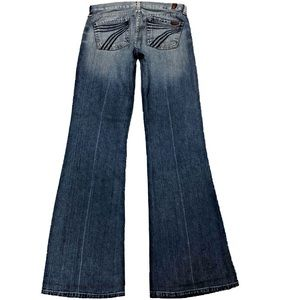 7 For All Mankind Dojo 26X33.5 Flare Blue Jeans